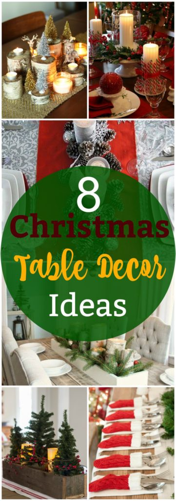 8 Christmas Table Decor Ideas