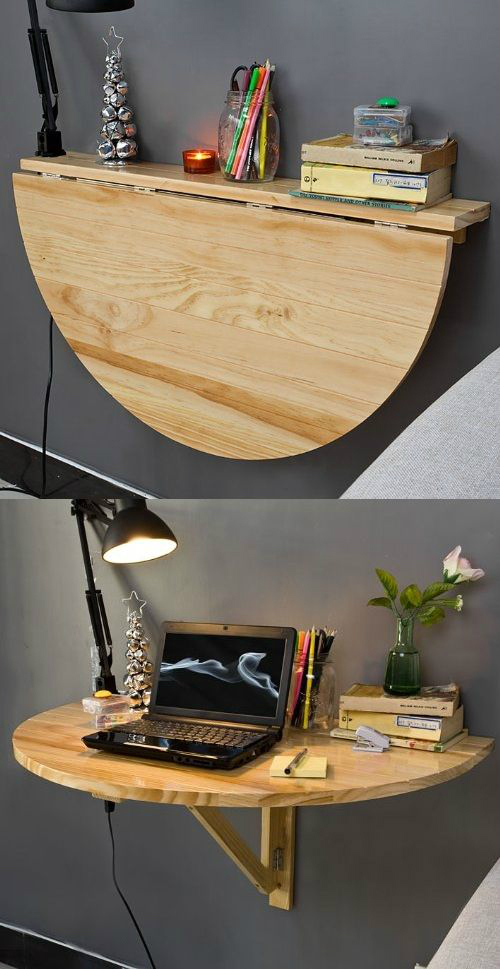 Wood Wall-mounted Drop-leaf Table