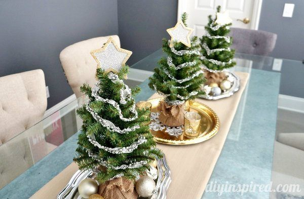 diy christmas decor the three trees