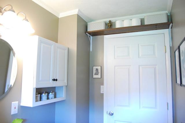 over the door bathroom shelf