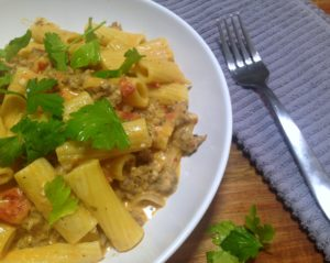 Sausage Rigatoni with Tomato Cream Sauce