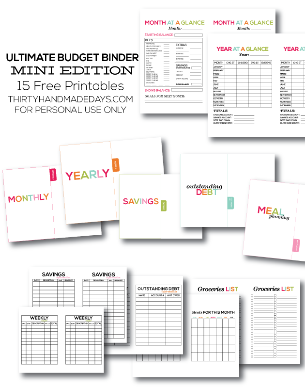 image relating to Budget Printables Free identified as 10 No cost and Amazing Funds Printables in direction of Arrange Your