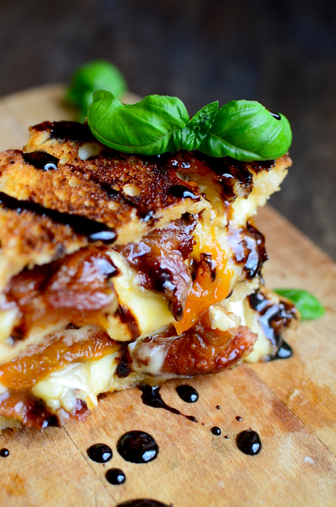 Bacon Brie Apricot Grilled Cheese