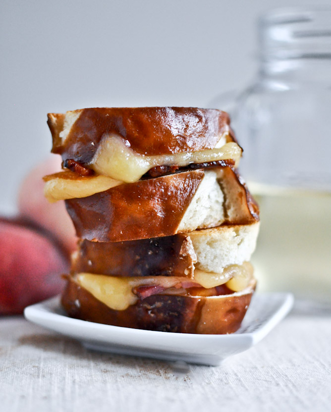 Peach Bacon Gouda Grilled Cheese
