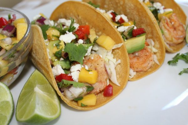 Shrimp Tacos Mango Salsa