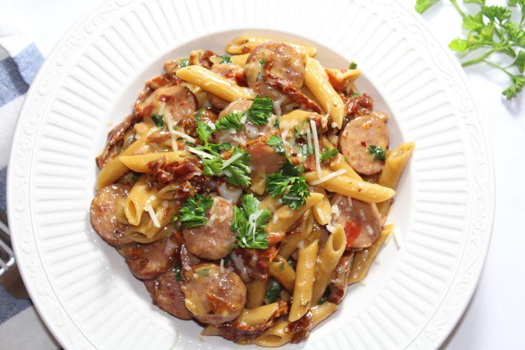 Sausage & Sun-Dried Tomato Pasta