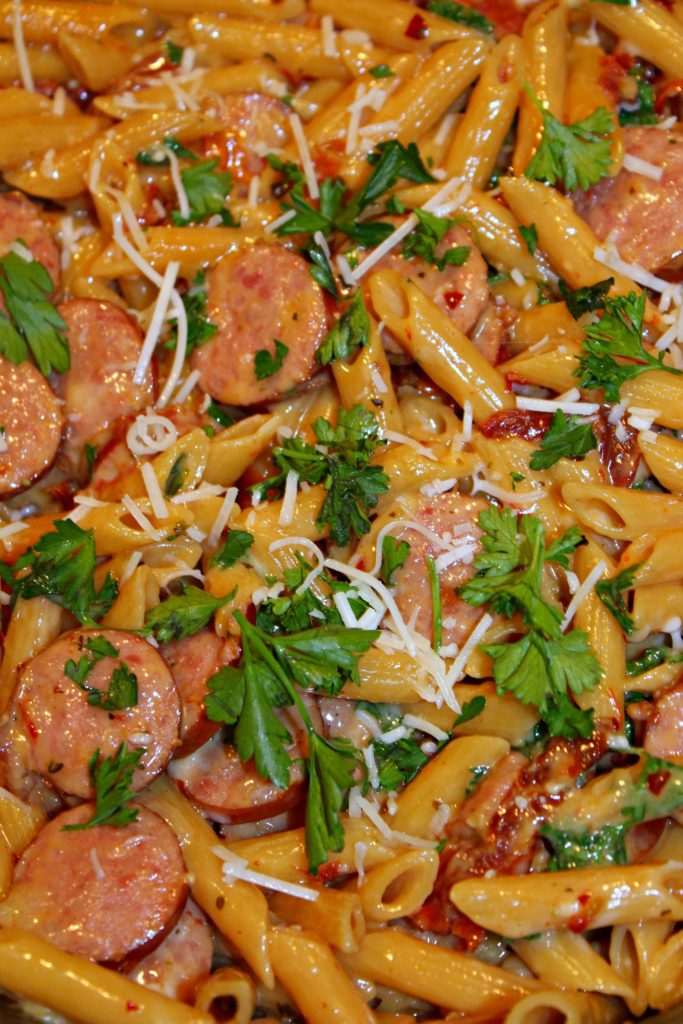 Smoked Sausage & Sun-Dried Tomato Pasta