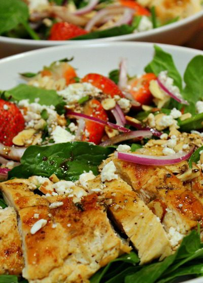 Healthy Strawberry Chicken Salad