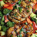 One Sheet Pan Sesame Chicken