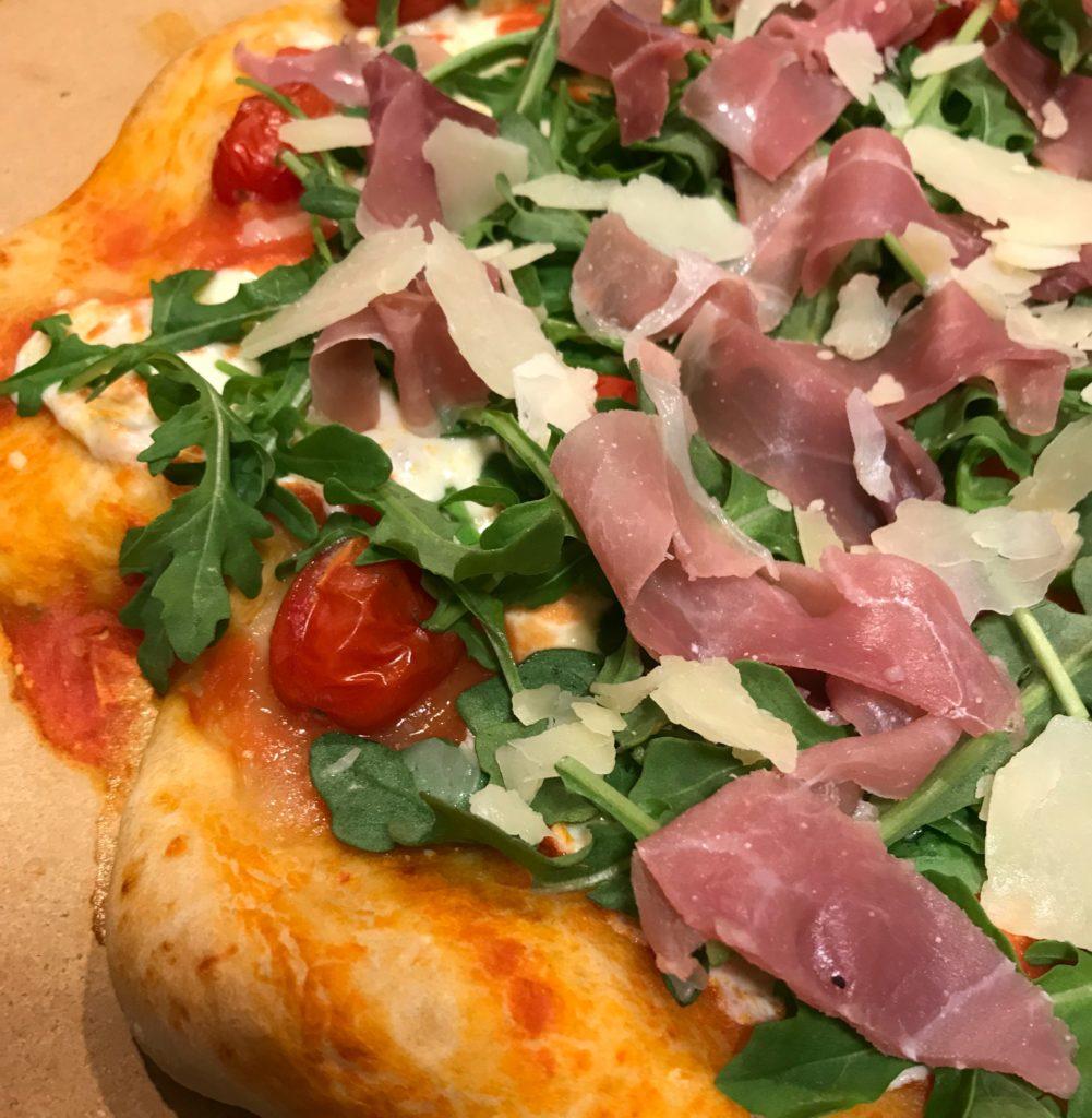 Prosciutto Arugula Mozzarella Pizza