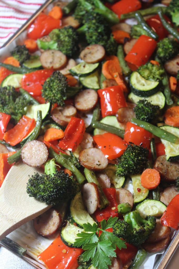 Sheet Pan Sage Sausage & Veggies