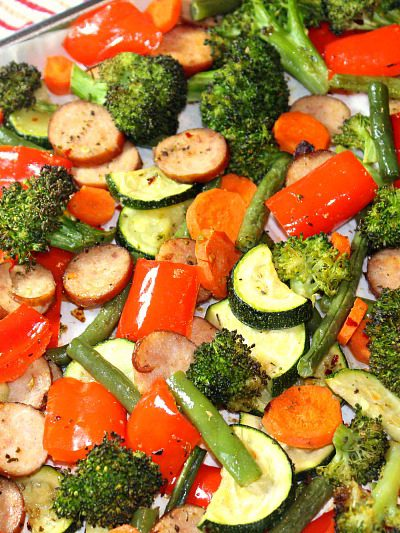 Sheet Pan Low Carb Sage Sausage and Veggies