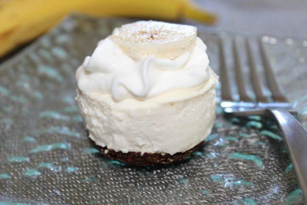 Banana Bread Bottomed Mini Cheesecake