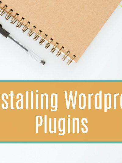 Start A Blog: Installing WordPress Plugins
