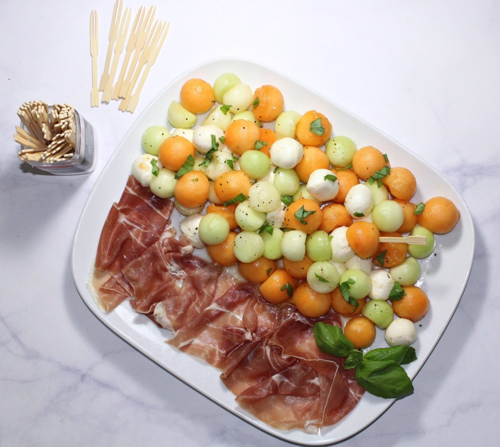 Melon Ball Prosciutto Salad