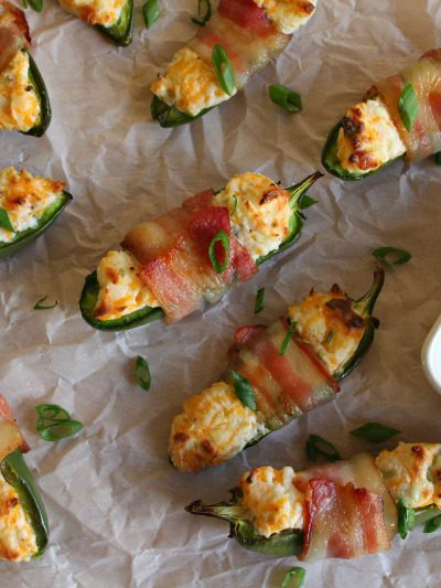 Cheesy Bacon Wrapped Jalapeno Poppers