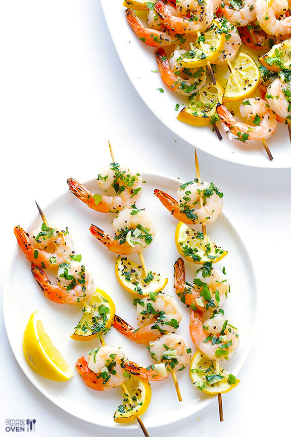 Shrimp-Scampi-Skewers
