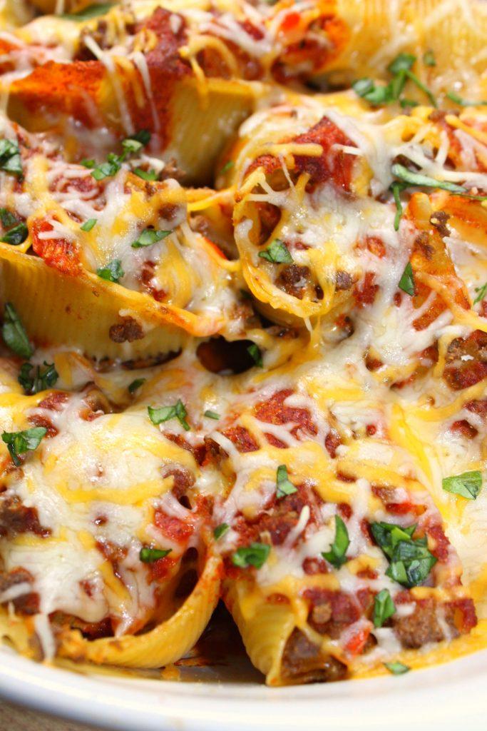 Enchilada Pasta Bake Shells