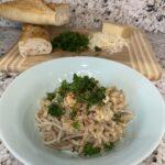 Garlic Parmesan Cassava Pasta